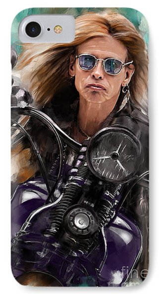 Steven Tyler On A Bike IPhone 7 Case