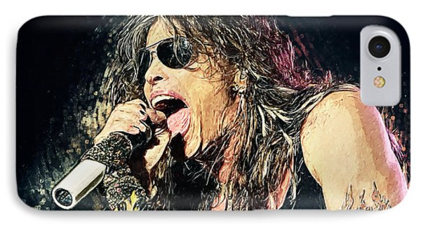 Steven Tyler  IPhone 7 Case by Taylan Apukovska