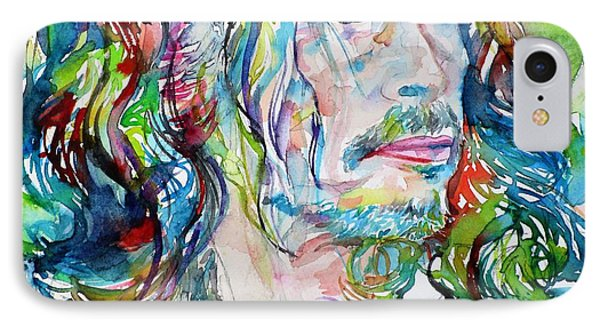 Steven Tyler - Watercolor Portrait IPhone 7 Case