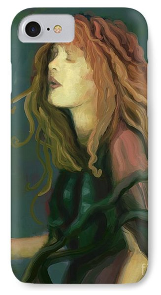 Stevie Nicks IPhone Case by Carrie Joy Byrnes