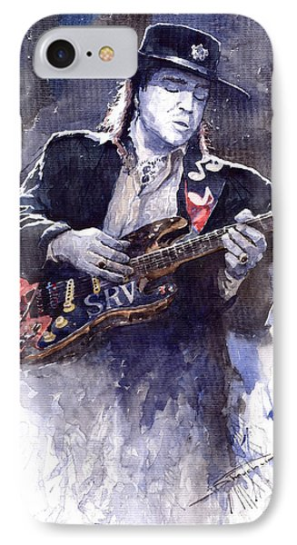 Stevie Ray Vaughan 1 IPhone Case by Yuriy  Shevchuk
