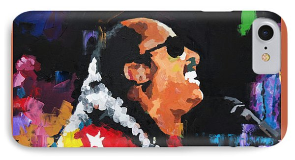 IPhone Case featuring the painting Stevie Wonder Live by Richard Day