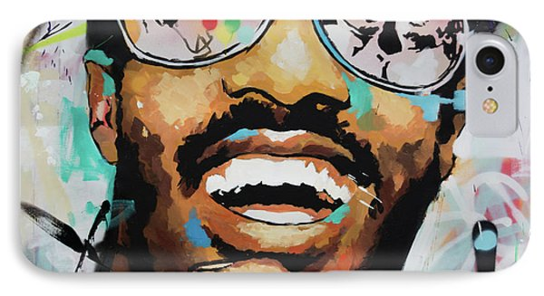 IPhone Case featuring the painting Stevie Wonder Portrait by Richard Day