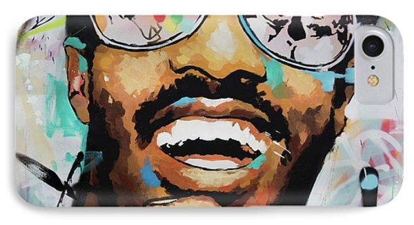 Stevie Wonder Portrait IPhone Case by Richard Day