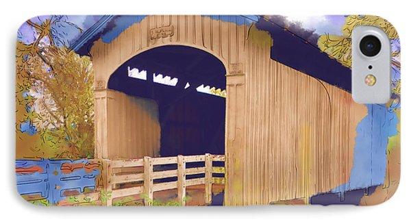 Stewart Bridge In Watercolor IPhone Case