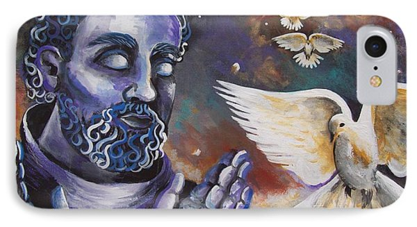 St.francis And The Birds Phone Case by Olivia Candille