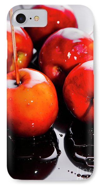 Sticky Red Toffee Apple Childhood Treat IPhone Case by Jorgo Photography - Wall Art Gallery