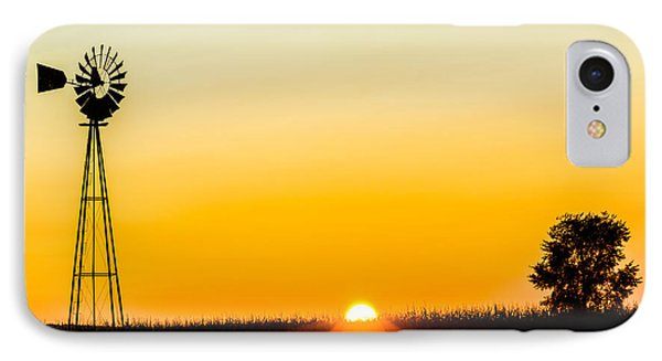 Still Country Sunset Silhouette IPhone Case by Chris Bordeleau