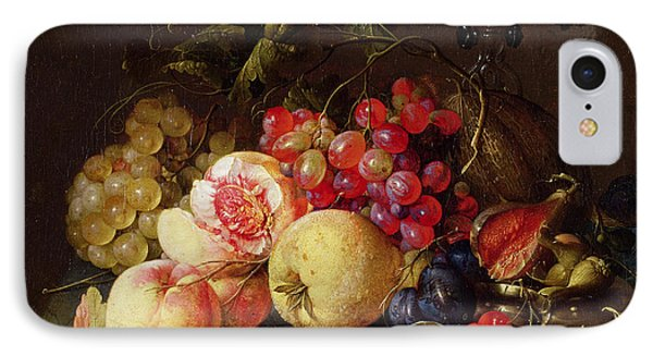 Still Life IPhone 7 Case by Cornelis de Heem
