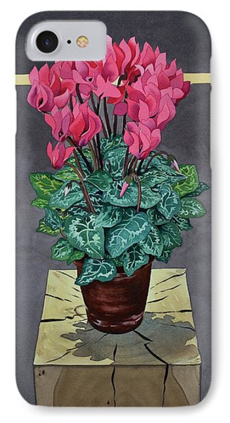Still Life Cyclamen IPhone Case by Christopher Ryland
