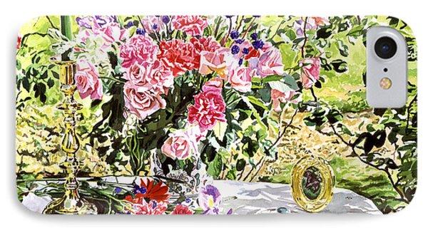 Still Life In The Artist's Garden Phone Case by David Lloyd Glover