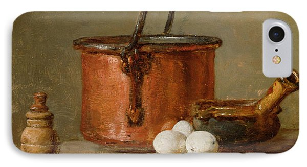 Still Life IPhone 7 Case by Jean-Baptiste Simeon Chardin