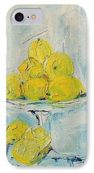 Still Life - Lemons IPhone Case by Shirley Heyn
