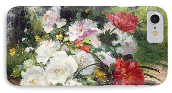 Still Life Of Flowers IPhone Case by Eugene Henri Cauchois
