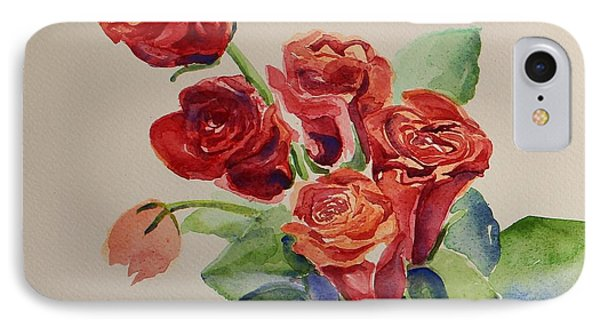 Still Life Red Roses IPhone Case by Geeta Biswas