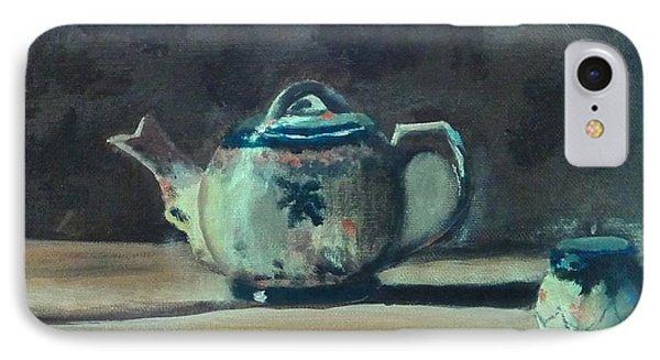 Still Life Teapot And Sugar Bowl IPhone Case