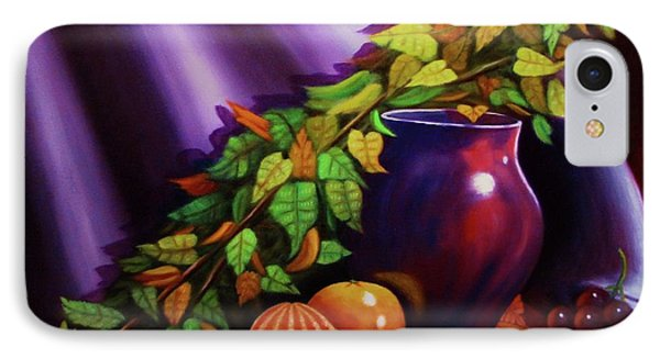 Still Life W/purple Vase IPhone Case by Gene Gregory