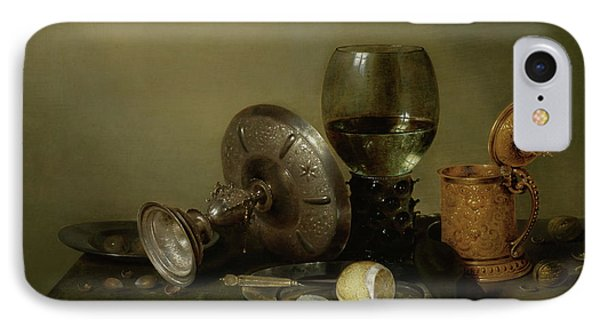 Still Life With A Gilded Beer Tankard IPhone Case by Willem Claesz Heda