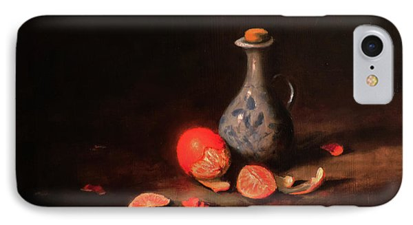 IPhone Case featuring the painting Still Life With A Little Dutch Jug by Barry Williamson