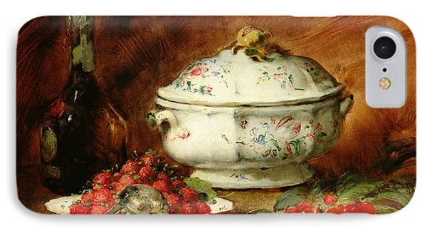 Still Life With A Soup Tureen IPhone Case by Guillaume Romain Fouace