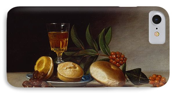 Still Life With A Wine Glass IPhone Case by Raphaelle Peale