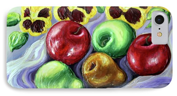 IPhone Case featuring the painting Still Life With Apples by Inese Poga