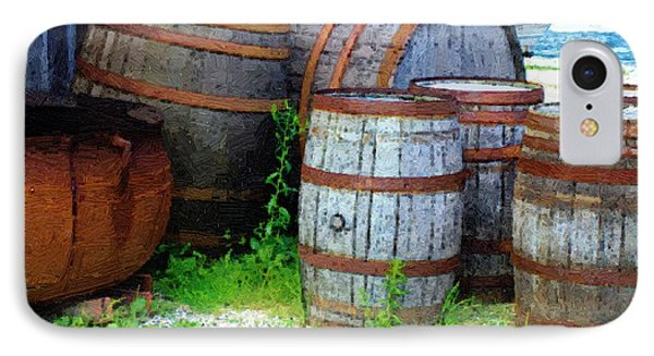 Still Life With Barrels Phone Case by RC DeWinter