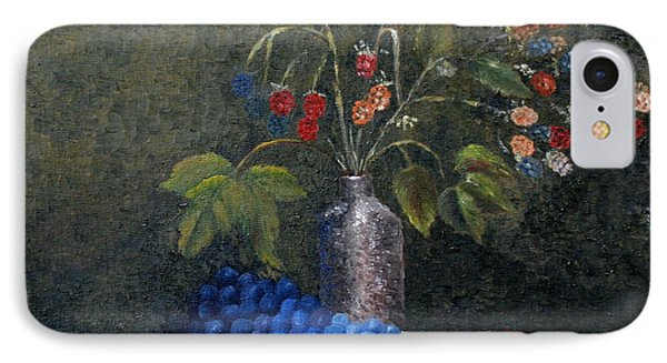 Still Life With Blue Fruit Phone Case by Karin Eisermann
