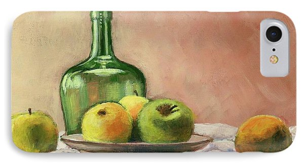 Still Life With Bottle IPhone Case by Janet King