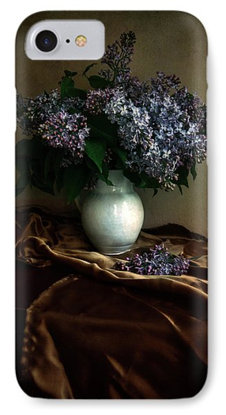 IPhone Case featuring the photograph Still Life With Bouqet Of Fresh Lilac by Jaroslaw Blaminsky