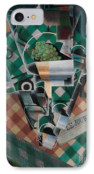 Still Life With Checked Tablecloth, 1915 IPhone Case by Juan Gris