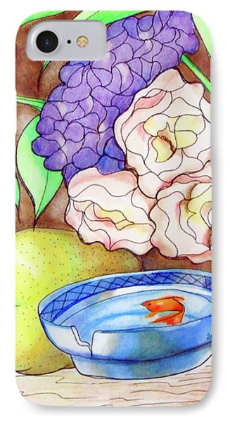 Still Life With Fish Phone Case by Loretta Nash