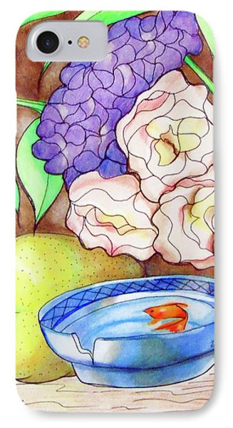 Still Life With Fish IPhone Case by Loretta Nash