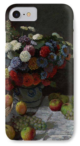 Still Life With Flowers And Fruit By Claude Monet IPhone Case by Esoterica Art Agency
