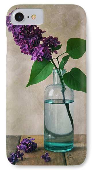IPhone Case featuring the photograph Still Life With Fresh Lilac by Jaroslaw Blaminsky