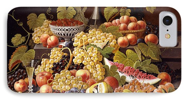Still Life With Fruit And Champagne IPhone Case by Severin Roesen