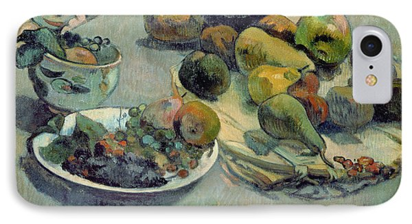 Still Life With Fruit IPhone 7 Case by Paul Gauguin