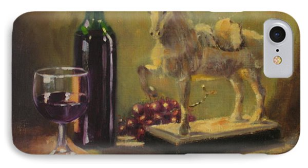 Still Life With Horse IPhone Case by Laura Lee Zanghetti