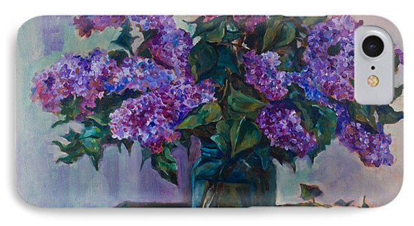 Still Life With Lilac  IPhone Case by Maxim Komissarchik