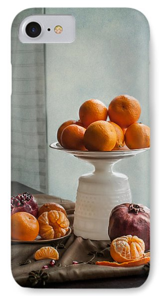 Still Life With Mandarins And Pomegranates IPhone Case