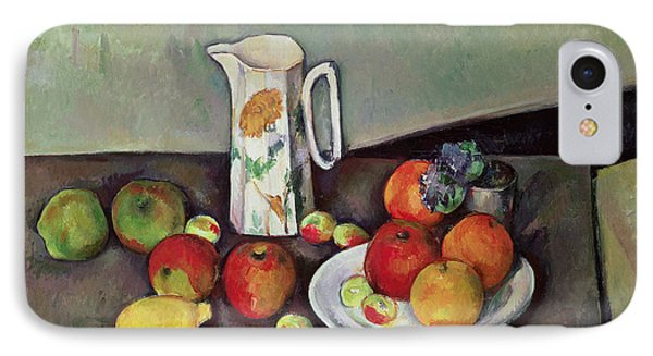 Still Life With Milkjug And Fruit IPhone Case by Paul Cezanne
