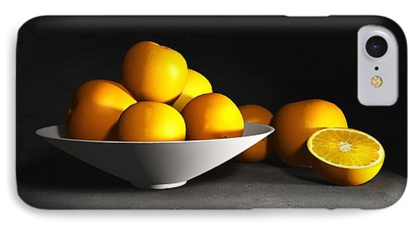 Still Life With Oranges IPhone Case by Cynthia Decker