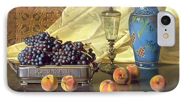 Still Life With Peaches IPhone Case by Edward Chalmers Leavitt