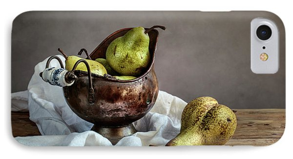 Pear iPhone 7 Case - Still-life With Pears by Nailia Schwarz