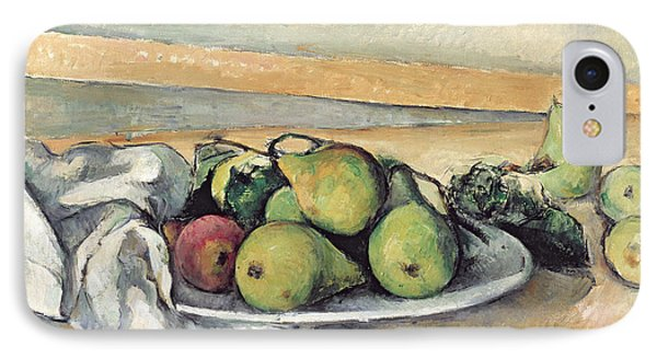 Still Life With Pears IPhone Case by Paul Cezanne