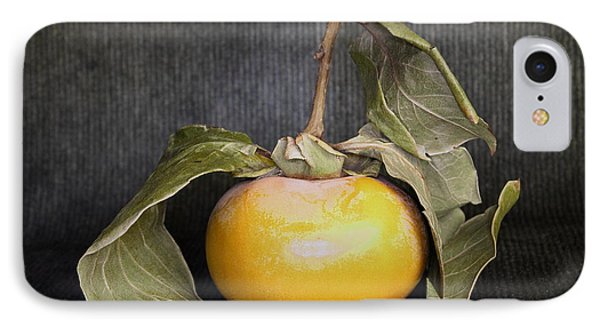 IPhone Case featuring the photograph Still Life With Persimmon by Viktor Savchenko