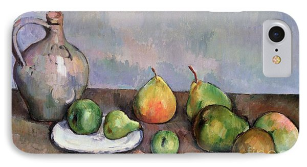 Still Life With Pitcher And Fruit IPhone Case by Paul Cezanne