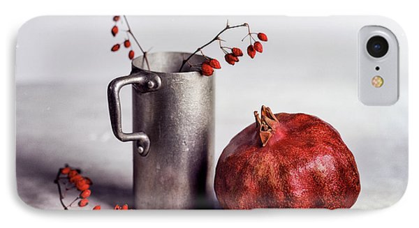 Still Life With Pomegranate IPhone Case by Nailia Schwarz
