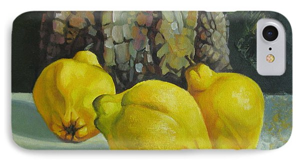 IPhone Case featuring the painting Still Life With Quinces by Elena Oleniuc