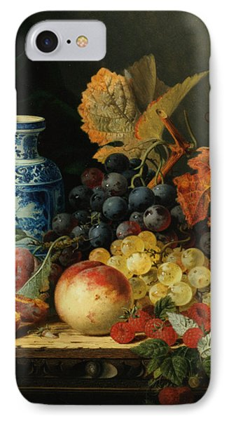 Still Life With Rasberries IPhone Case by Edward Ladell